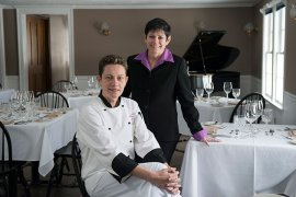 European Michelin star trained Chef Jevgenija Saromova and proprietor Mara Mehlman.